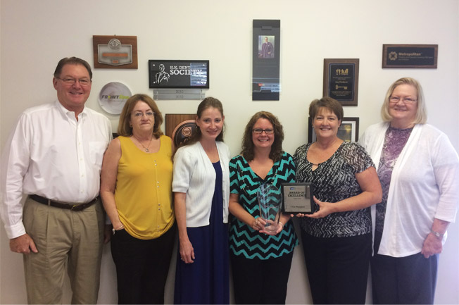 RV Johnson Staff with Safeco Excellence Award